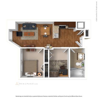 Studio 1 Bathroom Apartment for rent at Aq Rittenhouse in Philadelphia, PA