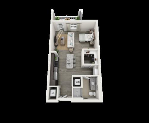 Studio 1 Bathroom Apartment for rent at Bridgeside Patriots Point in Mount Pleasant, SC