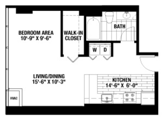 Studio 1 Bathroom Apartment for rent at 2116 Chestnut in Philadelphia, PA
