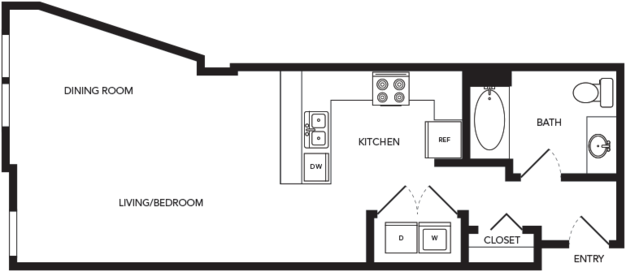 Studio 1 Bathroom Apartment for rent at Towne in Seattle, WA