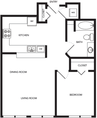 1 Bedroom 1 Bathroom Apartment for rent at Towne in Seattle, WA