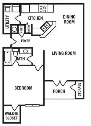 1 Bedroom 1 Bathroom Apartment for rent at Encore at the Park Apartments in Durham, NC