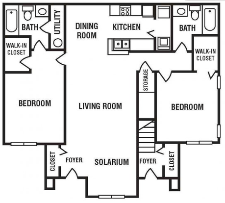 2 Bedrooms 2 Bathrooms Apartment for rent at Encore at the Park Apartments in Durham, NC