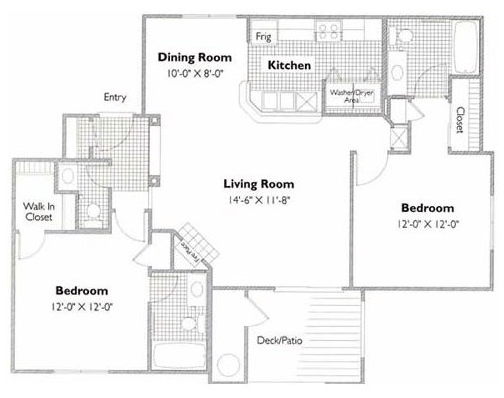2 Bedrooms 2 Bathrooms Apartment for rent at The Links in Raleigh, NC