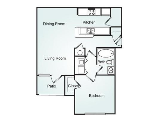 1 Bedroom 1 Bathroom Apartment for rent at Southpoint Crossing in Durham, NC