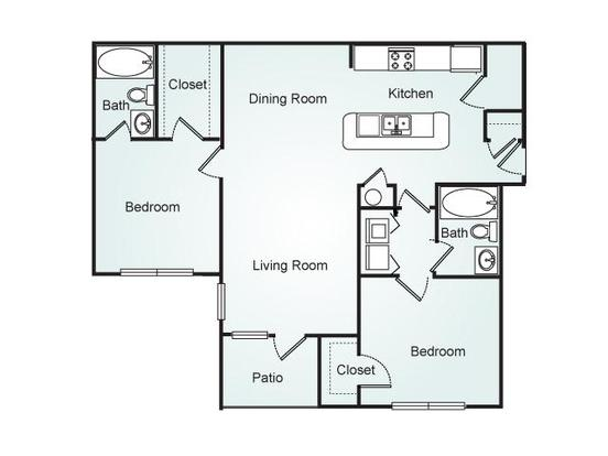 2 Bedrooms 2 Bathrooms Apartment for rent at Southpoint Crossing in Durham, NC