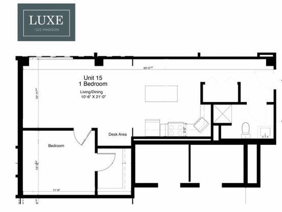 1 Bedroom 1 Bathroom Apartment for rent at Luxe on Madison in Chicago, IL