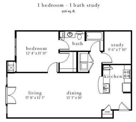 1 Bedroom 1 Bathroom Apartment for rent at Station Nine Apartments in Durham, NC