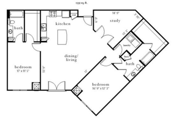 2 Bedrooms 2 Bathrooms Apartment for rent at Station Nine Apartments in Durham, NC