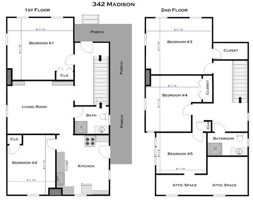 5 Bedrooms 2 Bathrooms House for rent at 342 E Madison St in Ann Arbor, MI