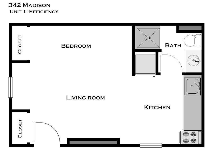 Studio 1 Bathroom House for rent at 342 E Madison St in Ann Arbor, MI