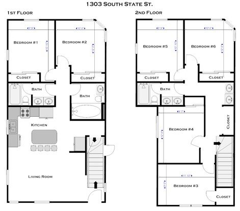 6 Bedrooms 3 Bathrooms House for rent at 1303 S State St in Ann Arbor, MI
