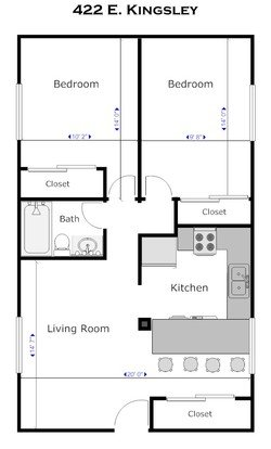 2 Bedrooms 1 Bathroom Apartment for rent at 422 E. Kingsley in Ann Arbor, MI