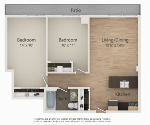 2 Bedrooms 1 Bathroom Apartment for rent at The Embassy in Madison, WI