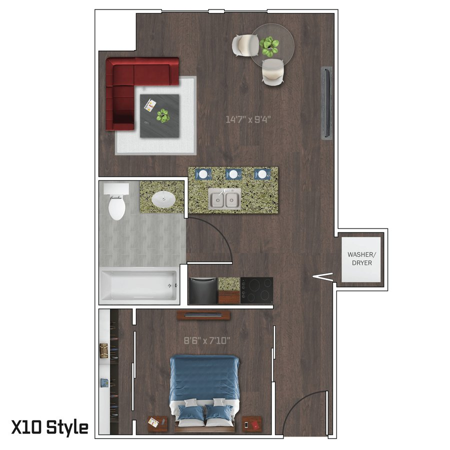 1 Bedroom 1 Bathroom Apartment for rent at Bedford Crossing in Madison, WI