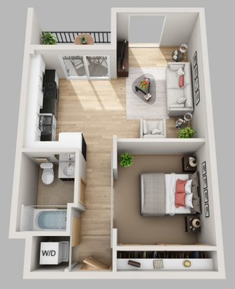 1 Bedroom 1 Bathroom Apartment for rent at The Lux in Madison, WI