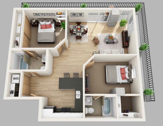 2 Bedrooms 2 Bathrooms Apartment for rent at The Lux in Madison, WI