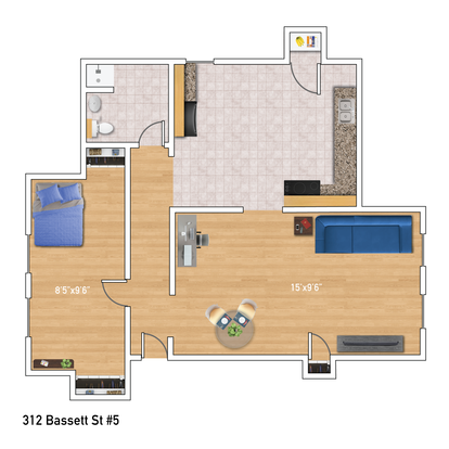 1 Bedroom 1 Bathroom Apartment for rent at 312 N Bassett Street in Madison, WI