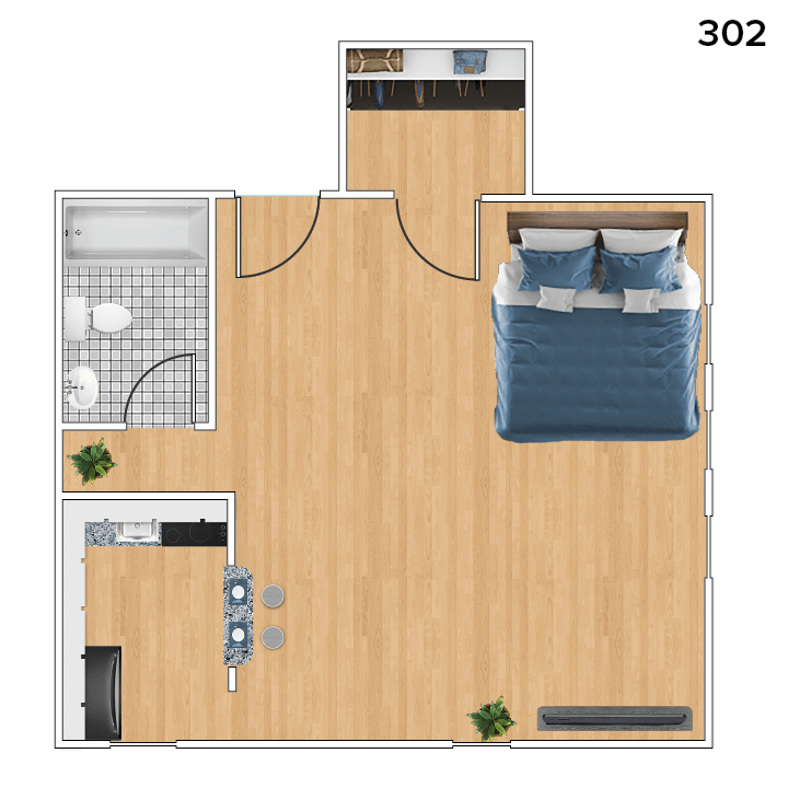Studio 1 Bathroom Apartment for rent at 419 North Pinckney St in Madison, WI