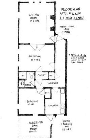 2 Bedrooms 1 Bathroom Apartment for rent at The Elms in Madison, WI