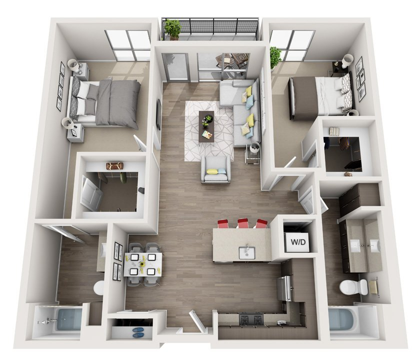 2 Bedrooms 2 Bathrooms Apartment for rent at Angelene in Los Angeles, CA