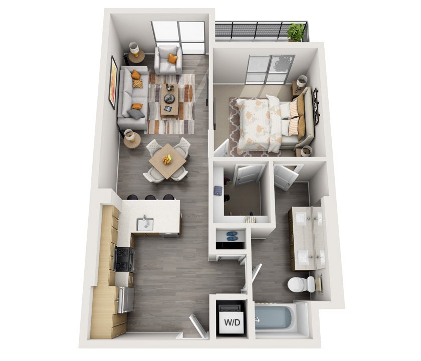 1 Bedroom 1 Bathroom Apartment for rent at Angelene in Los Angeles, CA