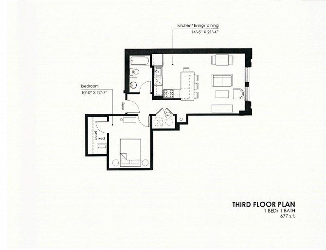 1 Bedroom 1 Bathroom Apartment for rent at Meyer Raapke Flats in Omaha, NE