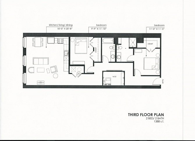 2 Bedrooms 2 Bathrooms Apartment for rent at Meyer Raapke Flats in Omaha, NE