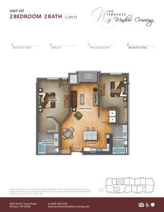 2 Bedrooms 2 Bathrooms Apartment for rent at The Terraces Of Windsor Crossing in Windsor, WI