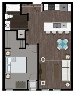 1 Bedroom 1 Bathroom Apartment for rent at 2500 Rimrock Apartments in Madison, WI