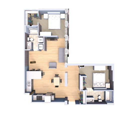 2 Bedrooms 2 Bathrooms Apartment for rent at Fortress in Milwaukee, WI