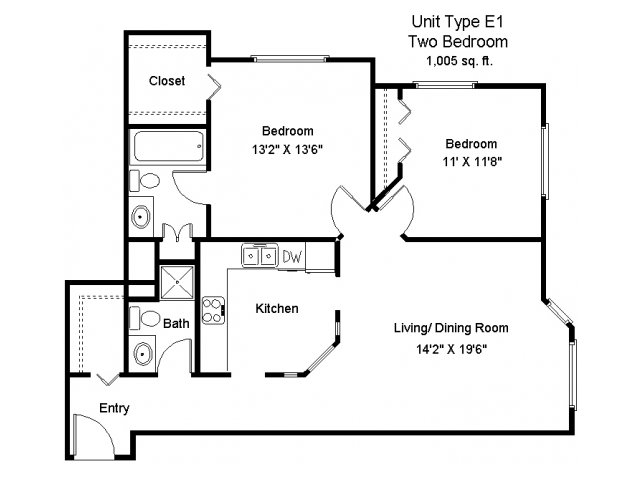 2 Bedrooms 2 Bathrooms Apartment for rent at Lake Square in White Bear Lake, MN