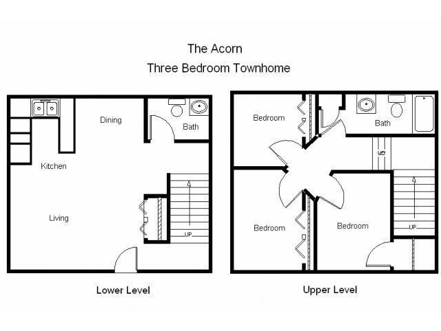 3 Bedrooms 2 Bathrooms Apartment for rent at Royal Oaks Townhomes in Rochester, MN