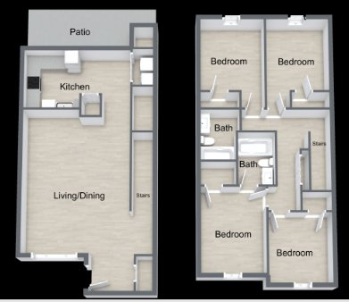 4 Bedrooms 2 Bathrooms Apartment for rent at The Bluffs At Cherry Hill in Omaha, NE