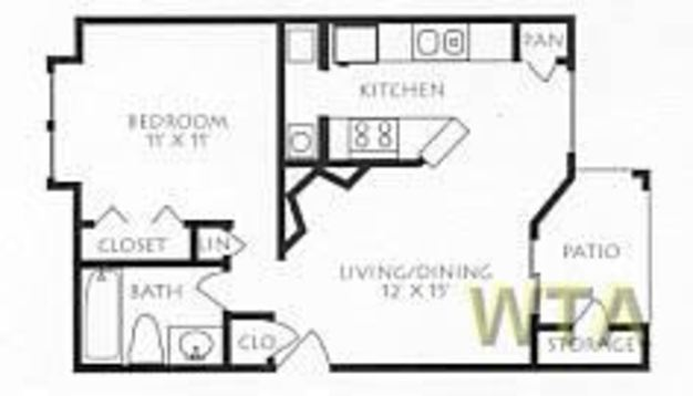 1 Bedroom 1 Bathroom Apartment for rent at Mc Neil And 183 in Austin, TX