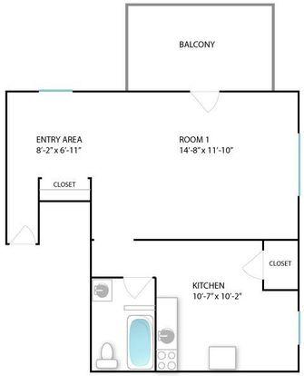 Studio 1 Bathroom Apartment for rent at 414 S Division St in Ann Arbor, MI