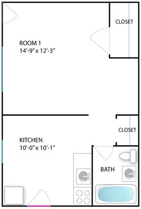 Studio 1 Bathroom Apartment for rent at 414 S Division St in Ann Arbor, MI