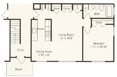 1 Bedroom 1 Bathroom Apartment for rent at Woodbury Gardens Apartments And Townhomes in Ann Arbor, MI