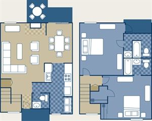 2 Bedrooms 2 Bathrooms House for rent at Poplar Place Apartments in Memphis, TN