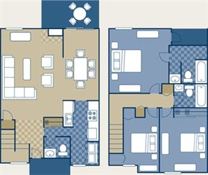 3 Bedrooms 2 Bathrooms House for rent at Poplar Place Apartments in Memphis, TN