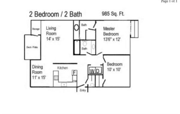 2 Bedrooms 2 Bathrooms Apartment for rent at Meadowland Apartment Community in Portland, OR