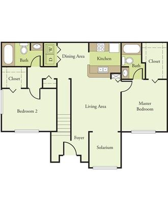 2 Bedrooms 2 Bathrooms Apartment for rent at Hickory Pointe in Melbourne, FL