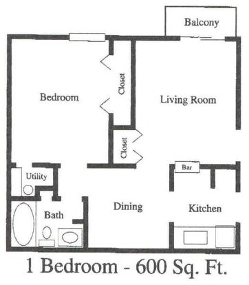 1 Bedroom 1 Bathroom Apartment for rent at Lackland Plaza in St Louis, MO