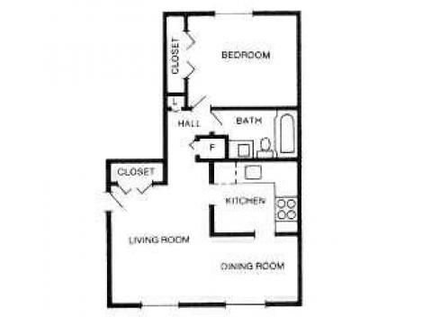 1 Bedroom 1 Bathroom Apartment for rent at International Village in Indianapolis, IN