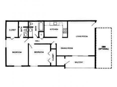 2 Bedrooms 2 Bathrooms Apartment for rent at International Village in Indianapolis, IN