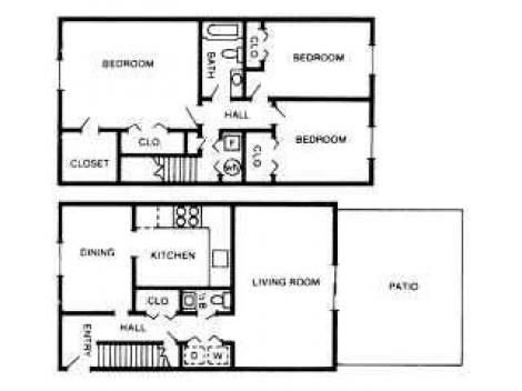 3 Bedrooms 1 Bathroom Apartment for rent at International Village in Indianapolis, IN