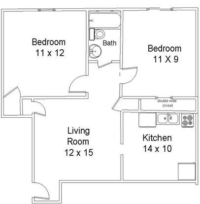2 Bedrooms 1 Bathroom Apartment for rent at Aspenwood Apartments in Cincinnati, OH