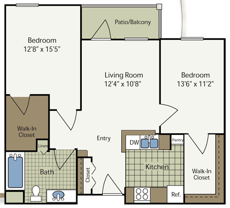 2 Bedrooms 1 Bathroom Apartment for rent at Heritage Place At Parkview in Indianapolis, IN