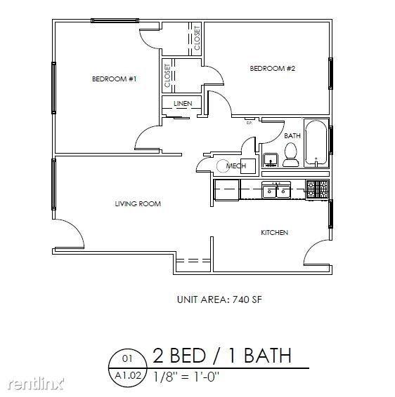 2 Bedrooms 1 Bathroom Apartment for rent at Gardens At Washington Park 1 in Atlanta, GA