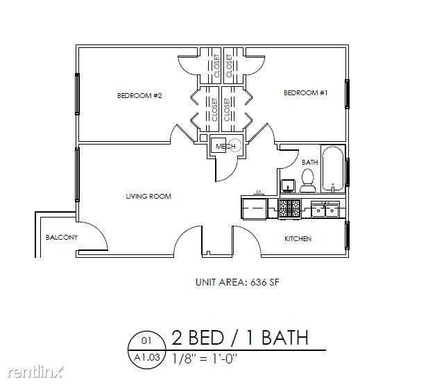 2 Bedrooms 1 Bathroom Apartment for rent at Gardens At Washington Park 2 in Atlanta, GA